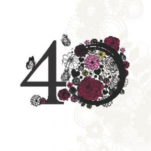 Age 40 Elegant Birthday Card TW133